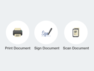 Print-Sign-Scan Icons
