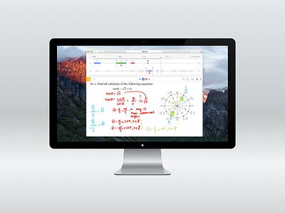 Video Editing Web Interface design interface app web