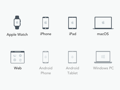 Platform Icons icon timely