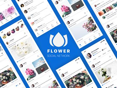Flower Social network social networking app flower social nerwork social social network social app