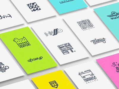 line-style logos 2011-2016 mishapriem linestyle logocollection behance flat logo line