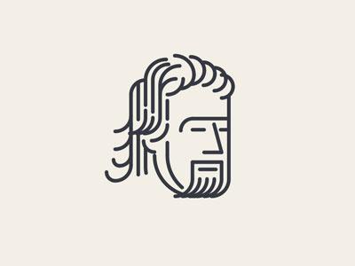 Urbanist ID russia urbanist swqter line character vector 2d flat illustration icon logo