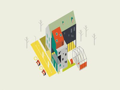 Urban Methods - Genome mishapriem city placemaking housing architecture illustration urbanism flat vector urbandesign