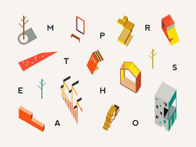 metaphors gif mishapriem city placemaking housing architecture illustration urbanism flat vector urban urbandesign