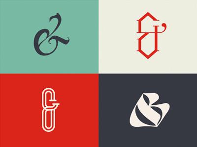Ampersand Collection mishapriem ligature blue red letters logo type lettering calligraphy sketch ampersand craft