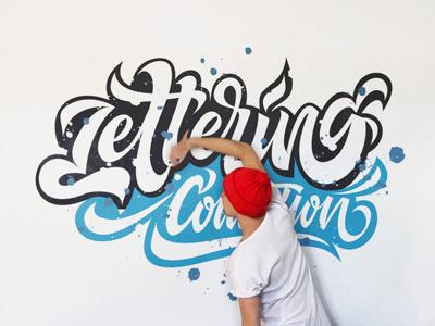 Lettering Portfolio mishapriem ligature blue red logo type lettering calligraphy fashion logotype letters