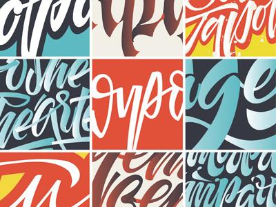 Lettering Details mishapriem ligature blue red logo type lettering calligraphy fashion logotype letters
