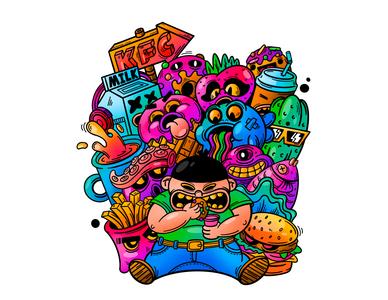 Gluttony illustration