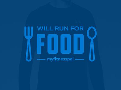 Ragnar Longsleeve spoon fork food blue tshirt apparel 2tone shirt clothing retro branding logo