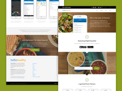 Panera Landing Page instructions green color web page web contest sweepstakes nutrition landing page photography food