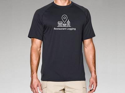 Men's Restaurant Logging Shirt logo apparel shirt tshirt buildings restaurant pin location illustration