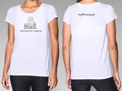 Women's Restaurant Logging Shirt illustration location pin restaurant buildings tshirt shirt apparel logo