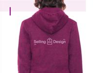 Ebay Selling Design Logo & Sweatshirt two toned ebay simple tag logo sweatshirt pastel pink fuschia