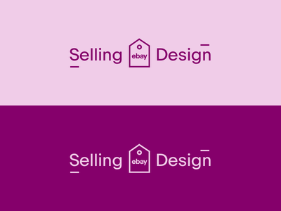 Ebay Selling Design Logo 2 purple pink simple logo colorful logo color tag illustration simple branding brand logo