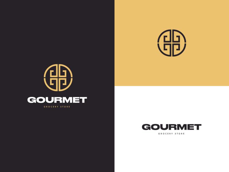 Gourmet store design illustration dribbble digitaldesign behance icon typography vector branding logo