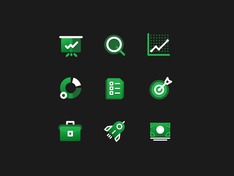 Dashboard Office Icon Set iconset icons userinterface webdesigner illustration interface digitaldesign dribbble design