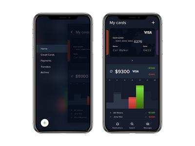 Financial app webdesigner ux userinterface ui mobile interface dribbble digitaldesign behance application app