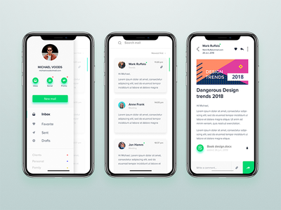 Mail app webdesigner ux userinterface ui mobile interface dribbble digitaldesign behance application app