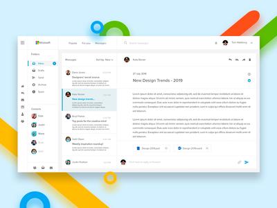 Microsoft Outlook application userinterface behance ux ui interface app digitaldesign