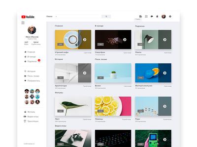 My Redesign Youtube digitaldesign userinterface ui design desktop app interface ux ui dribbble interface behance app
