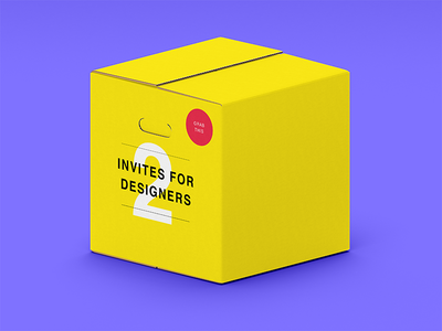 Two Invites For Designers invite application mobile vector branding icon design typography logo webdesigner userinterface dribbble behance digitaldesign interface ux ui
