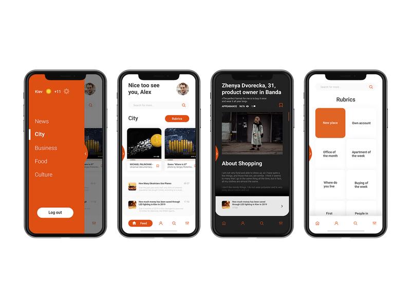 News app design ux application mobile app webdesigner userinterface behance dribbble ui interface