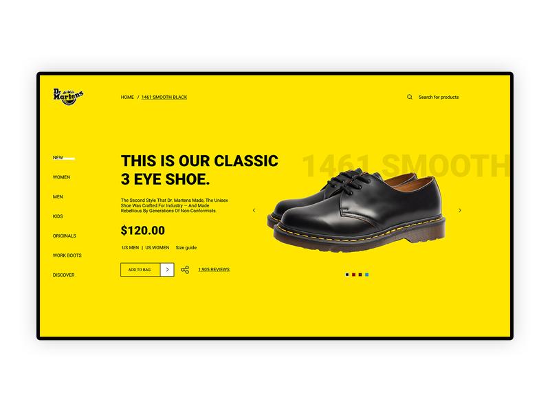 Dr Martens - Redesign Page design typography behance userinterface webdesigner interface ux dribbble digitaldesign ui
