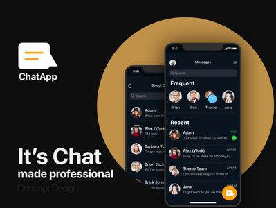 Chat App Concept Design chat app minimal mobile app ux ui