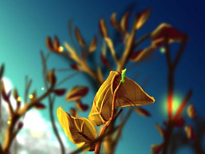 Leaf Of Hope gold green tree hope leaf