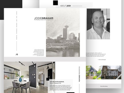 JG Real Estate Website modern minimalist clean web design white