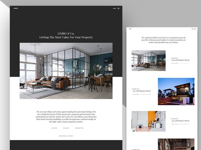Limbo - Real Estate Theme Concept real estate web design minimalist clean wip