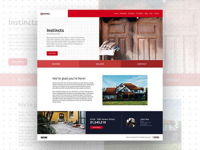 Panel - modular Real Estate Theme concept web design real estate modular minimal clean