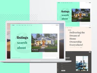 Umaga Real Estate Theme clean logo design ui minimal green blue real estate web design
