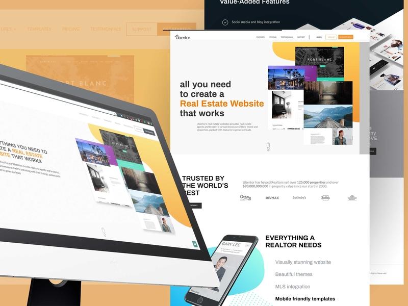 Ubertor Website Revamp branding ui design minimal real estate web design