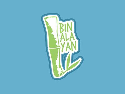 Binangonan, Rizal Sticker icon typography green leaf minimal blue design illustration logo