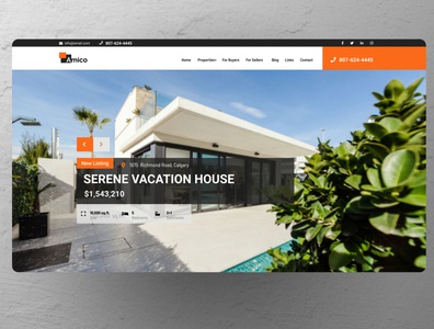 Amico Real Estate Theme for Ubertor website design website home page home homepagedesign homepage ux ui design real estate minimal clean web design