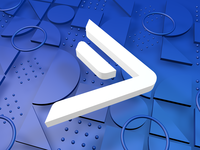 I'm Joining ActiveCampaign! blue c4d render 3d logo activecampaign