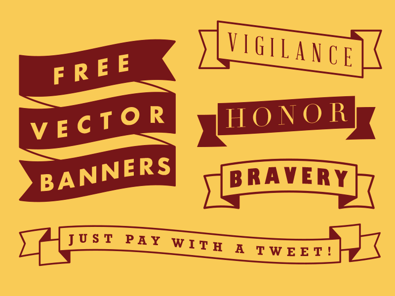 Free Vector Banners by