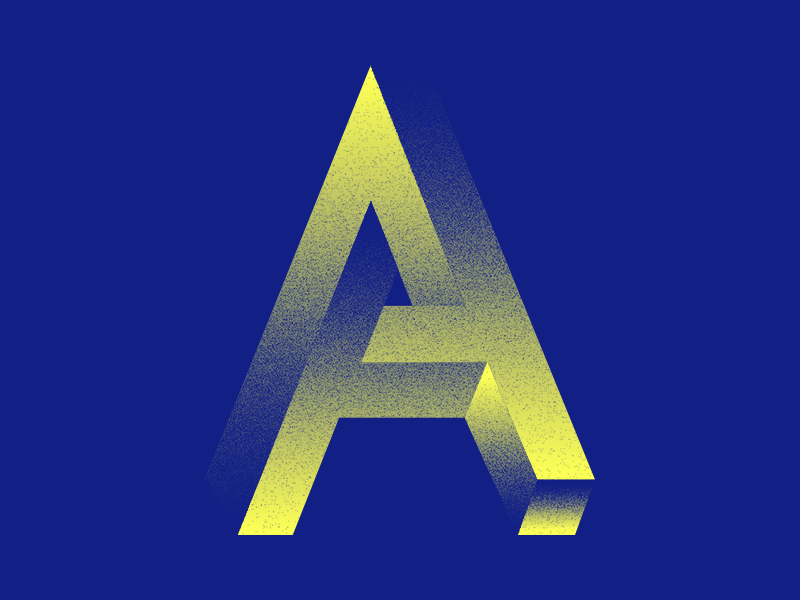 #Typehue 1: A type typehue dropcap letter a