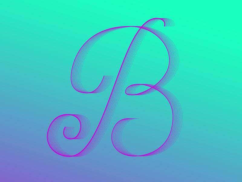 #Typehue 2: B type letter dropcap b typehue