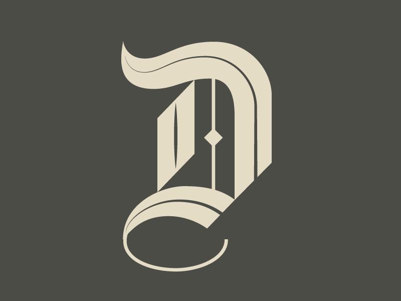 #Typehue 4: D type letter dropcap d typehue