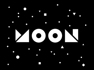 MOON circle triangle square typography simple shapes shape vector space moon geometric