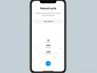 Natural Cycle track periods ovulation fertility pregnancy periods cycle mobile design uxdesign mobile ui ux ui