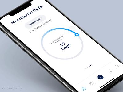 Menstruation Cycle fertile ovulation calendar dates cycle menstruation days periods mobile app mobile ui uxdesign ux ui