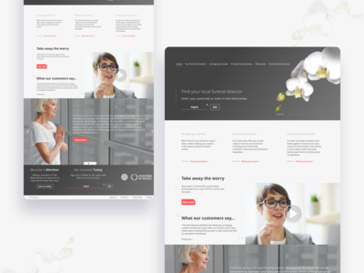 Funeral Website Concept user interface user experience website graphic design ux ui concept funeral