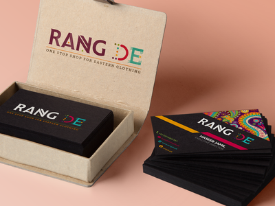 Business Card — Rang De colorful logo debut stationery business card packaging box branding
