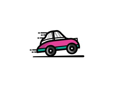 QUICK CAR Mascot Logo Design animation vector illustration icon design