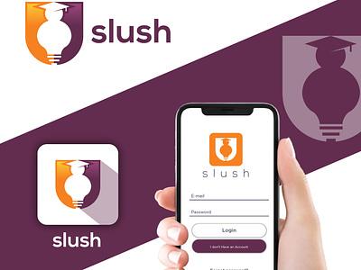 Slush Study App Logo wordmarklogo studylogo appdesign mobileapp applogo branding ux ui logo flat vector icon design app study slush