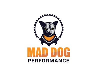 Mad Dog Logo mascot logo mascot logo character vector illustration design performance mad logo dog logo doglogo maddoglogo