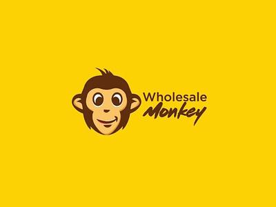 Wholesale Monkey Logo monkey branding logo mascot logo mascot 3d logo icon vector character illustration design wholesale logo monkey logo wholesale monkey logo